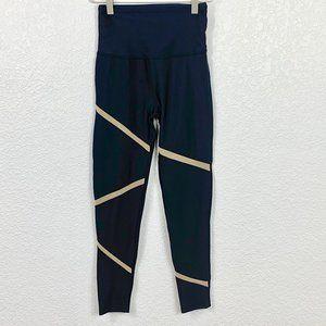 Beyond Yoga High Waist Black / Gold Leggings - SM